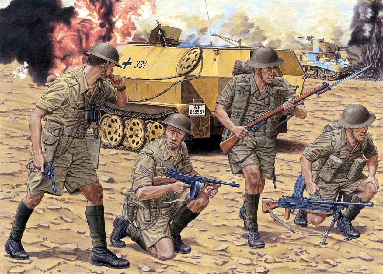 BRITISH ARMY 1942, El Alamein, British Infantry, 8º Army