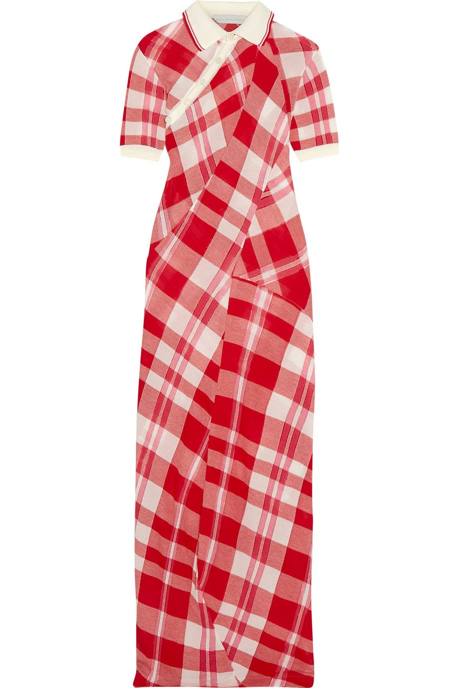 Stella McCartney | Checked knitted cotton maxi dress | NET-A-PORTER.COM