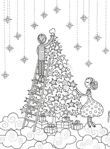 weihnachtsbaum, weihnachtsbilder zu färben, weihnachten malvorlagen, kostenlose farbe