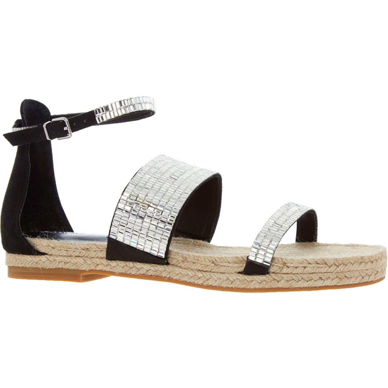 0139a1ab1ed7 Black Baguette Jewel Sandals - Winter Sun - TK Maxx