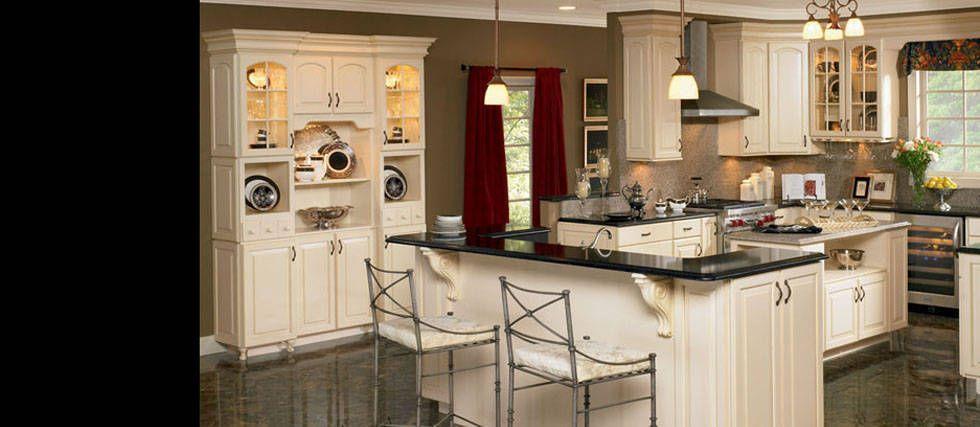 Woodmark Charlottesville  Species Maple  Color Butterscotch Glaze  cabinets  American
