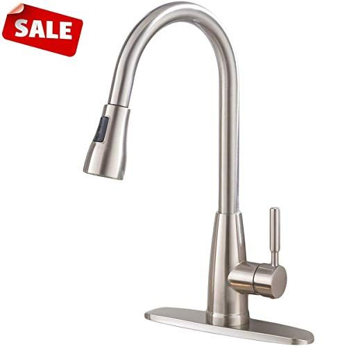 Commercial Stainless Steel Single Handle Pull Down Sprayer Kitchen