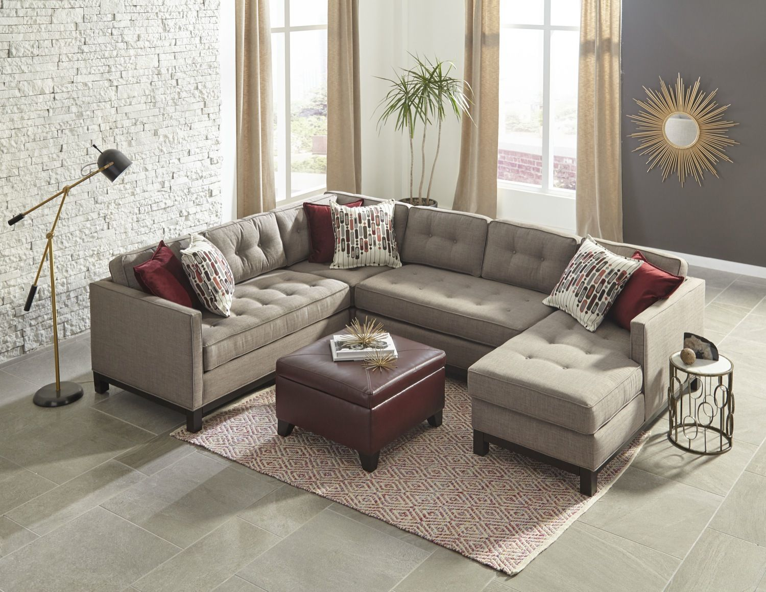 A Sectional With Room To Stretch Lounge And And Snooze Living