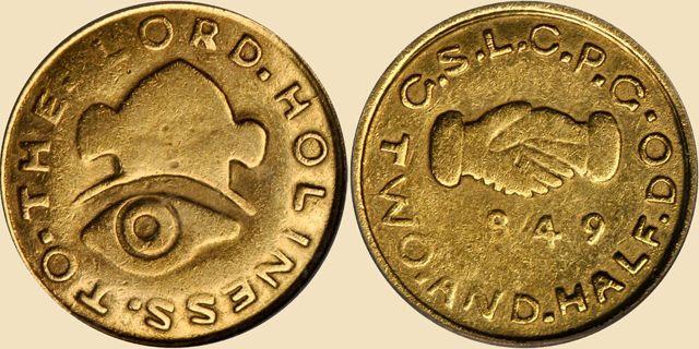 Mormon territorial gold coin, 1849