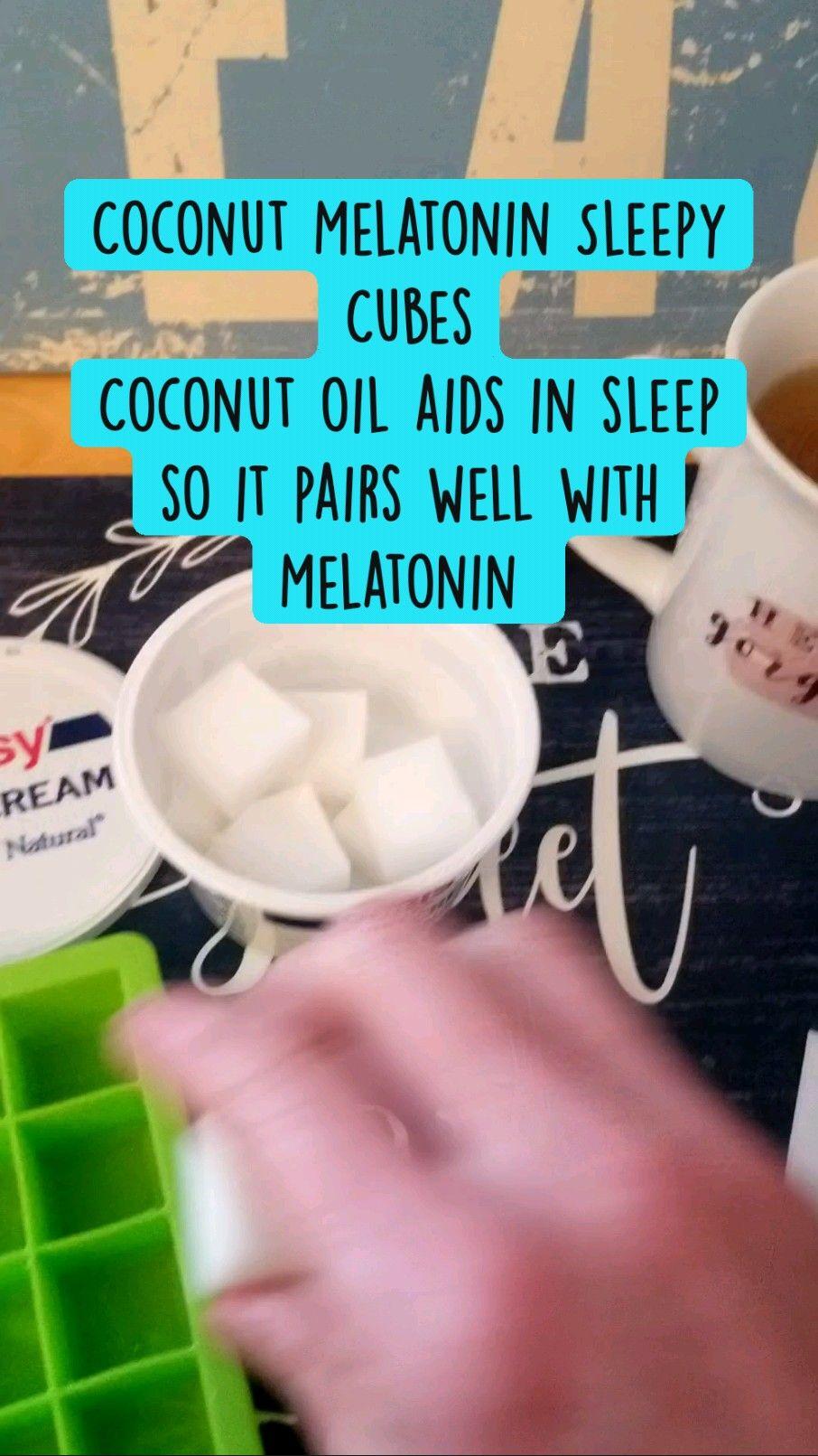 Coconut Melatonin Sleepy Cubes