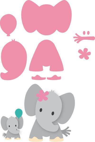 ФЕТРоголик (корейский фетр и аксессуары) фетр Pinterest - elephant cut out template