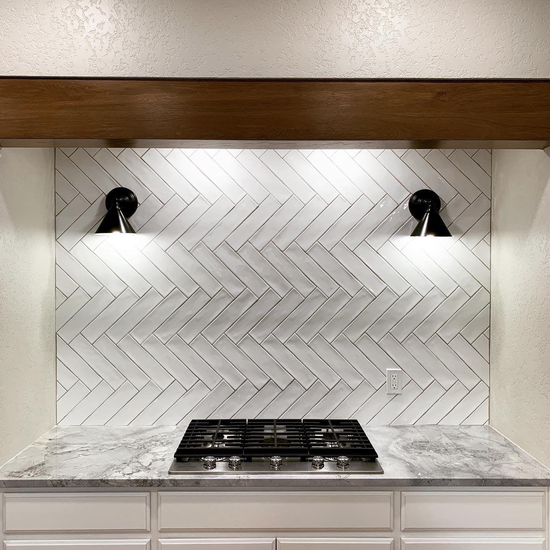 - Kitchen Backsplash Material: 3x12 Costa Clara, Cloud From Marazzi