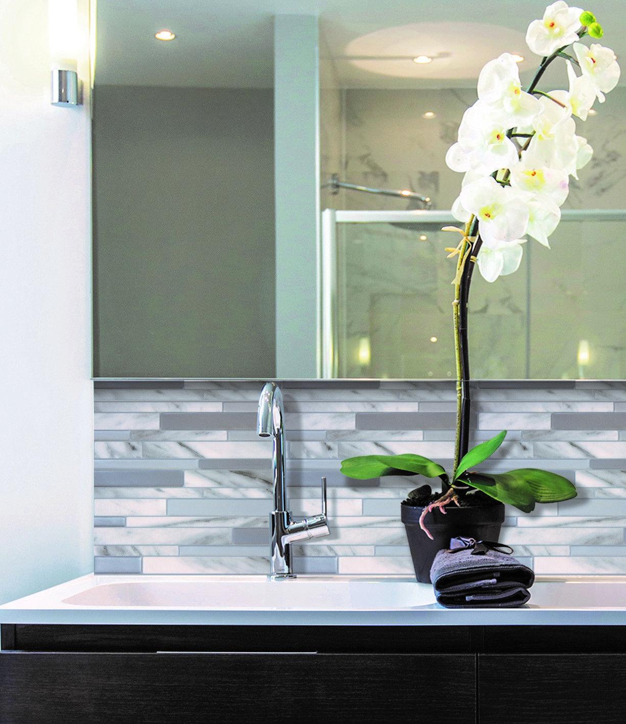 W Peel and Stick Mosaic Decorative Wall