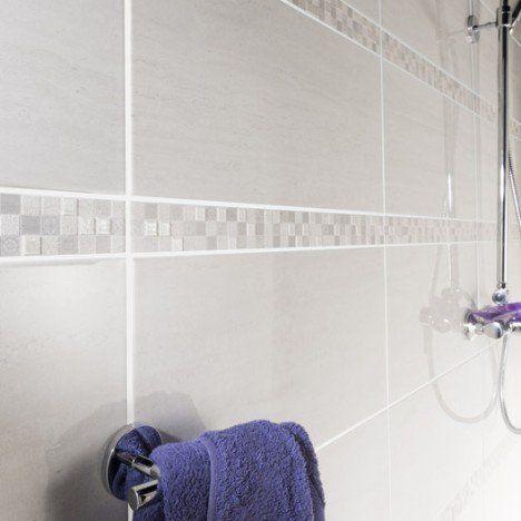 Faïence mur blanc, Verone l25 x L50 cm salle de bain Pinterest