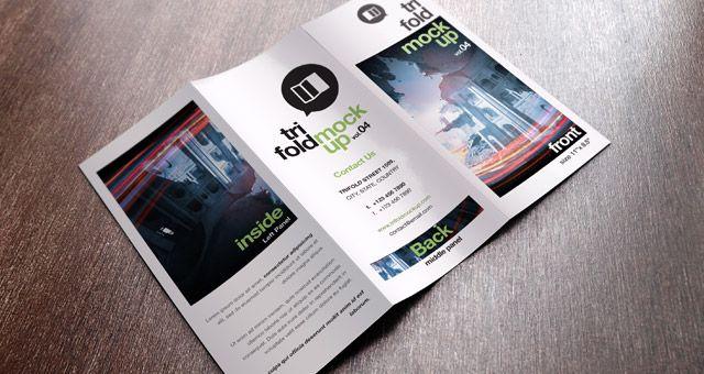Psd Tri Fold Mockup Template Vol Coffee Pinterest Tri Fold - Tri fold brochure template photoshop free
