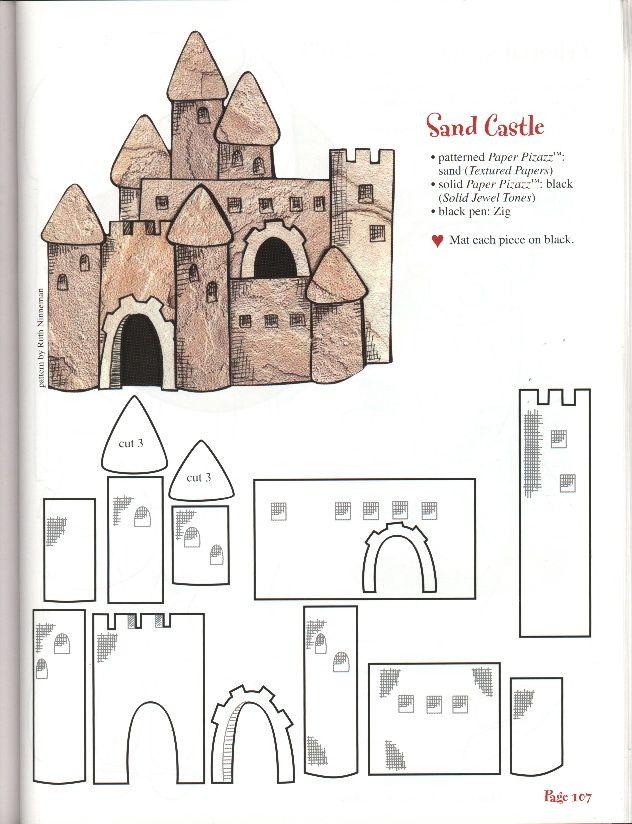 Castelo Gingerbread Castle Christmas House Patterns Template Printable