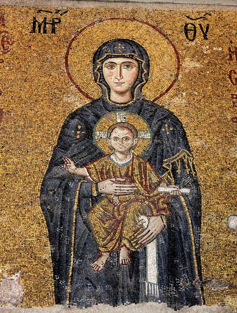 Istanbul Hagia Sophia Comnenus Mosaics Byzantine Mosaic Byzantine Art Hagia Sophia
