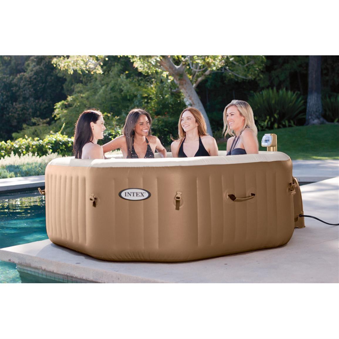 Intex PureSpa Bubble Therapy 4-person Portable Hot Tub | Hot tub ...