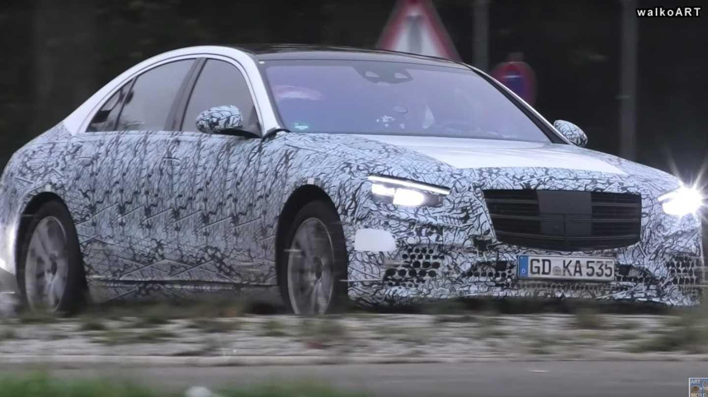 2021 Mercedes Benz S Class Less Camo Spy Video Screenshots For
