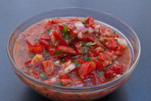 Fresh Tomato Salsa Recipe - For a quick version of Pico de Gallo try this fresh tomato salsa using diced tomatoes. It's perfect for the winter months when fresh tomatoes aren't at their peak.