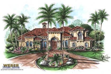 Florida Mediterranean House Plan 60433 | House plans ...