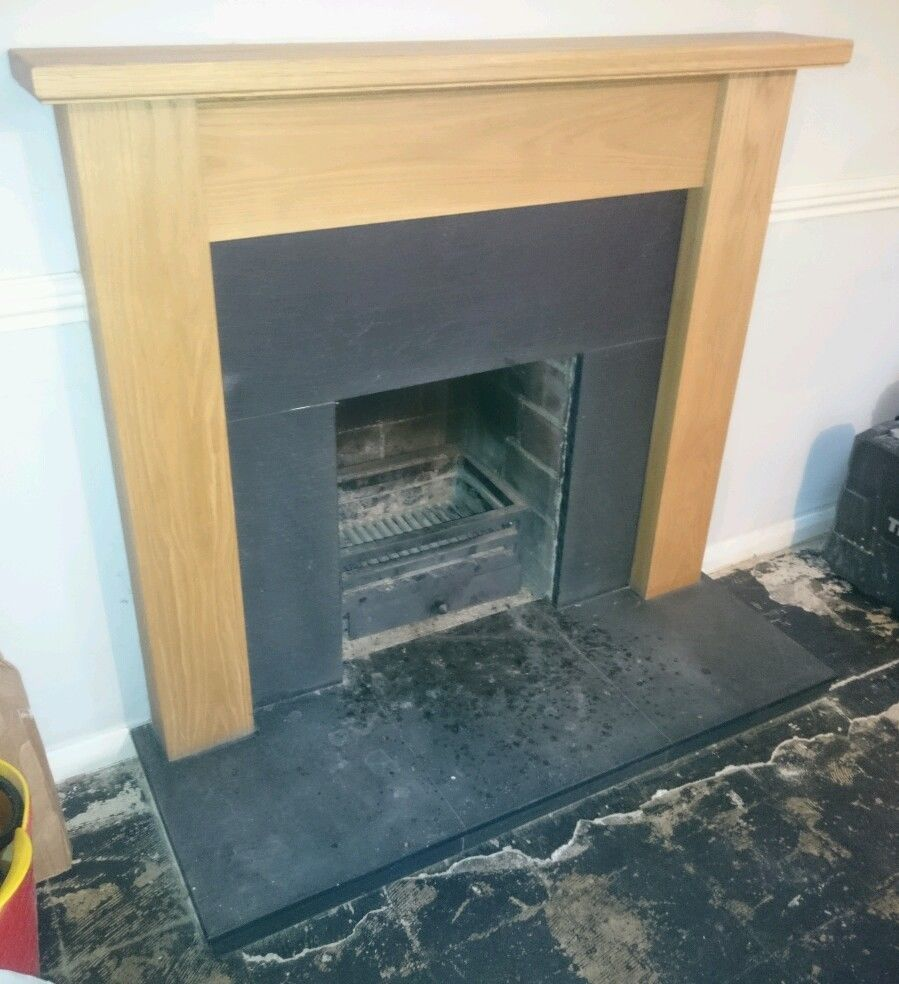 oak fire surround with slate hearth u0026 slips slate hearth fire