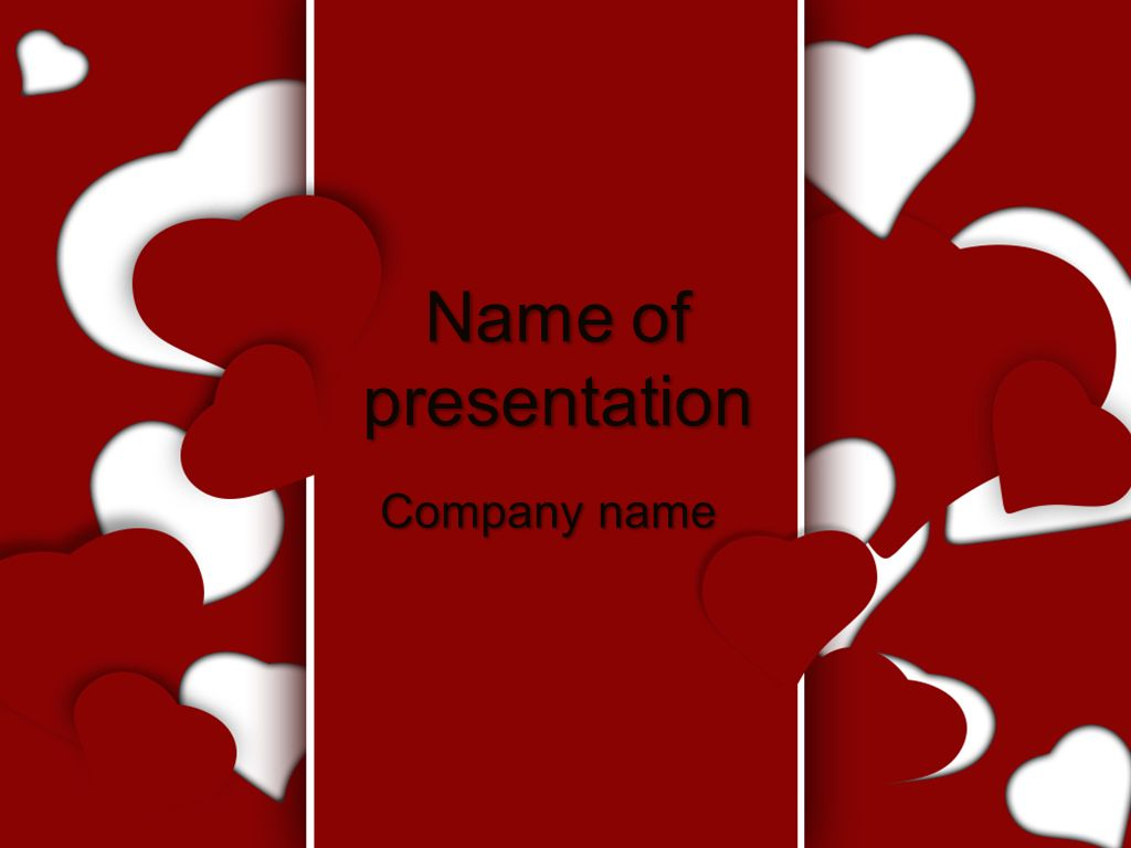 Red Hearts Powerpoint Template Templates Pinterest Templates