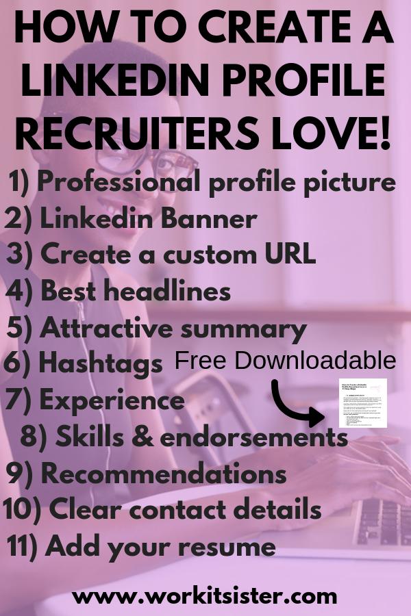 How to Create a Linkedin Profile Recruiters Love in 11