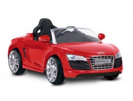 Audi R8 Spyder R BIEMME GIOCHI in offerta a 271,00. Motore velocità 3 km/h, batteria a secco 1 x 6 V, autonomia 1 ora. Caricabatteria da 6 Volts incluso. Acceleratore a freno unico pedale, marcia avanti + retromarcia. Fusibile protezione motore. Design realistico, luci a LED, luci e suoni, radiocomando.  Con realistico rombo del motore. LICENZIATO DA AUDI AG. Puoi trovarla su http://qpoint.eu/prodotto/auto-elettrica-audi-r8-spyder-r/