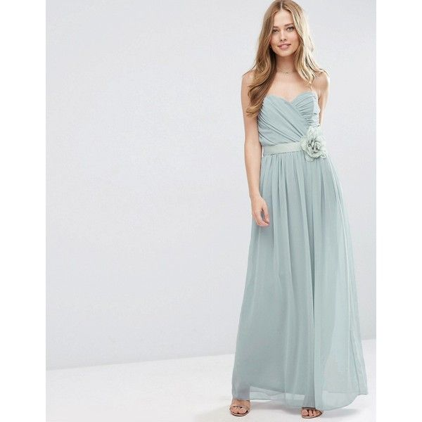 ASOS WEDDING Chiffon Bandeau Maxi Dress with Detachable Corsage ($32 ...