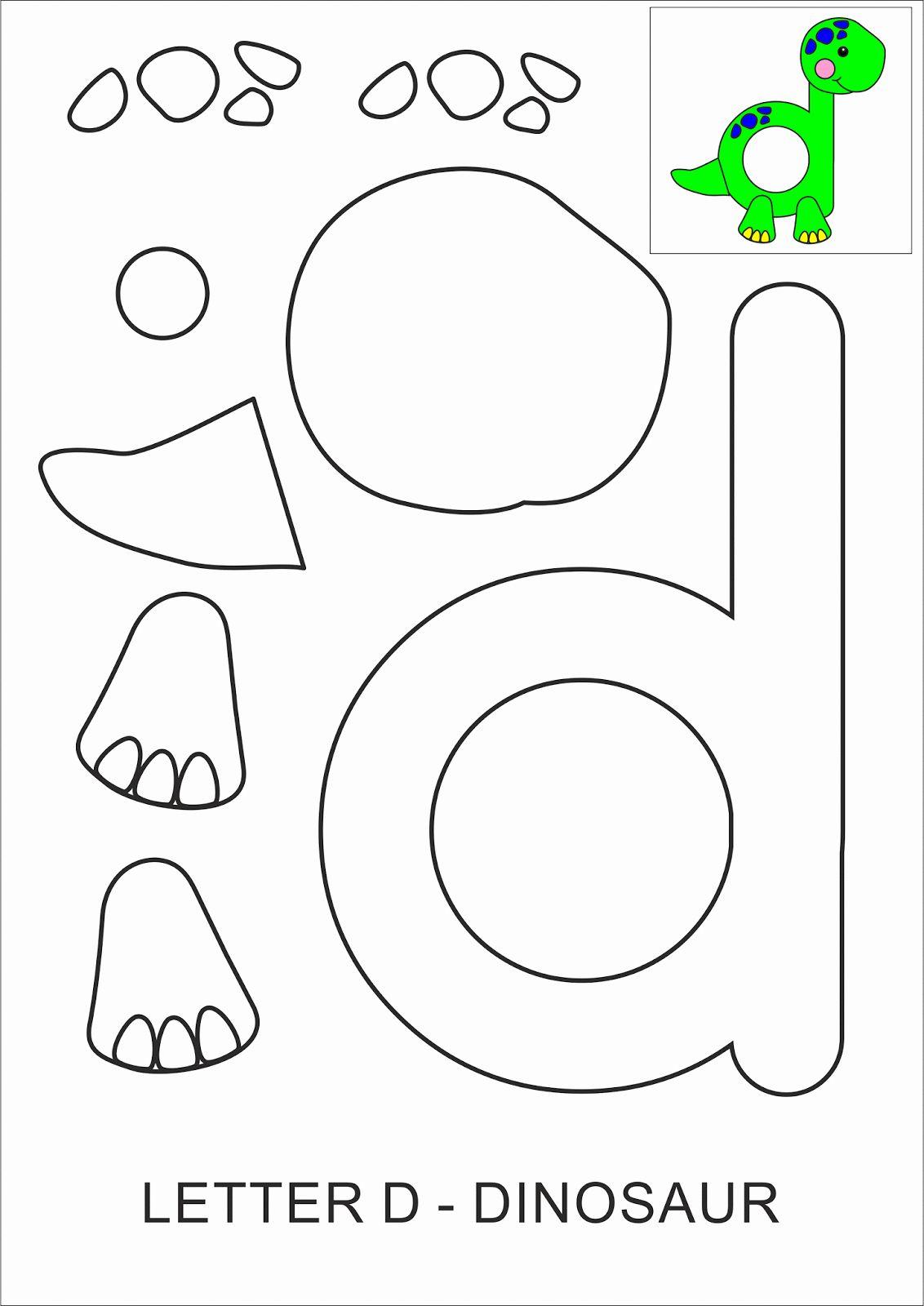 Letter D Worksheet For Preschool Beautiful Letter D Crafts For Preschool Preschool And Kindergarten In 2020 Letter D Crafts Dinosaur Crafts Preschool Preschool Letters