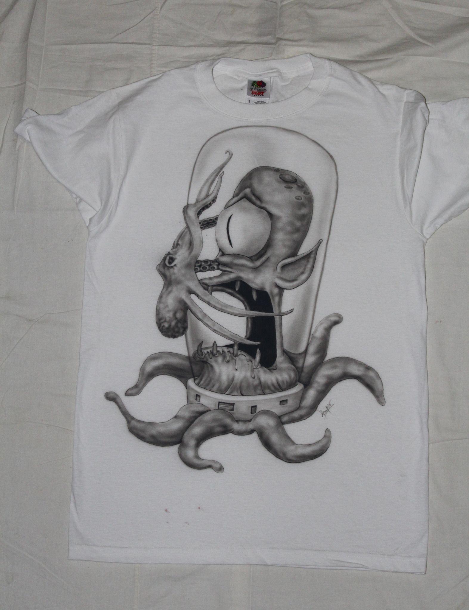 T-shirt design handmade -  Aliens Handmade T Shirt Design Prints Available In My Dbh Online Store