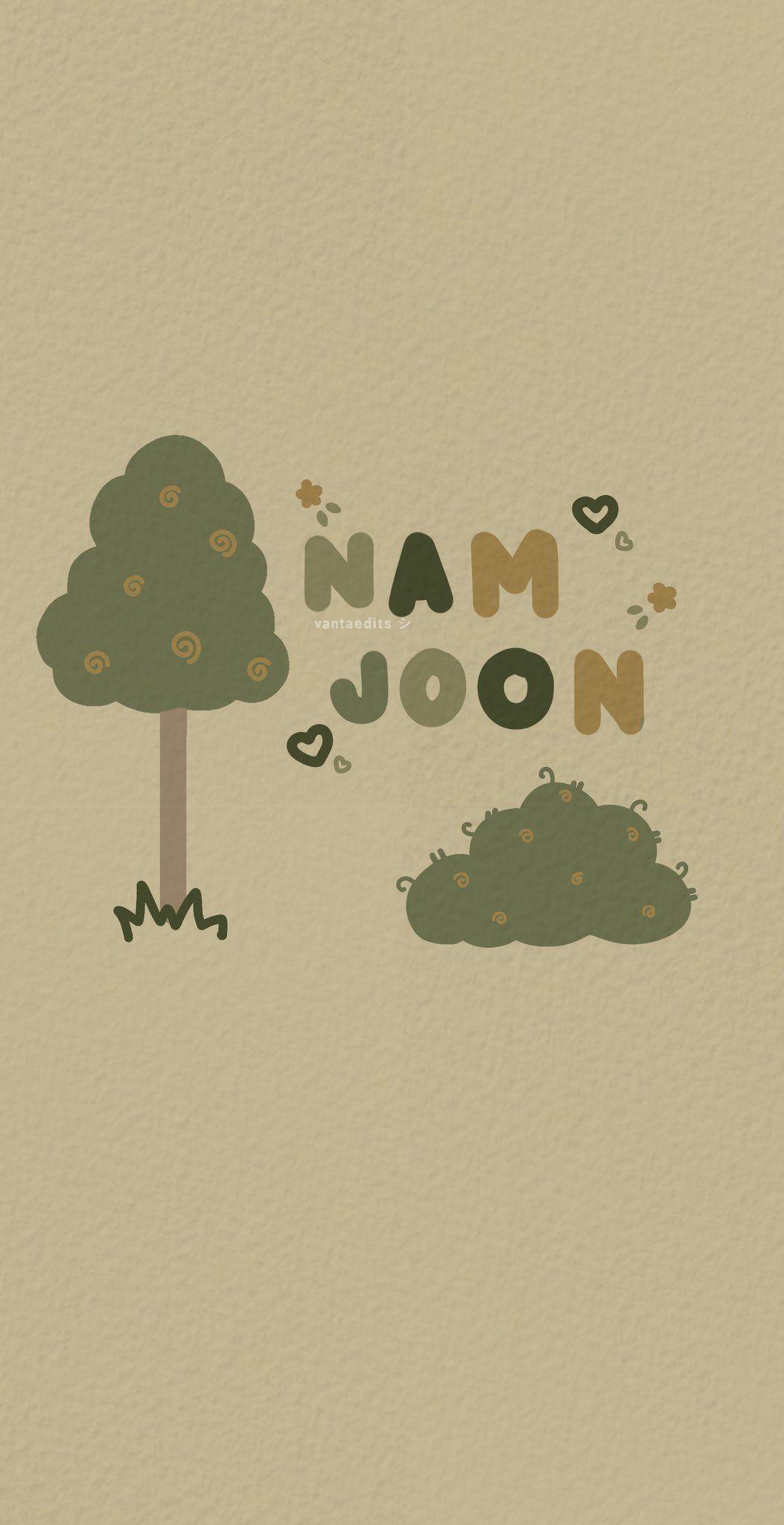 forestcore namjoon wallpaper