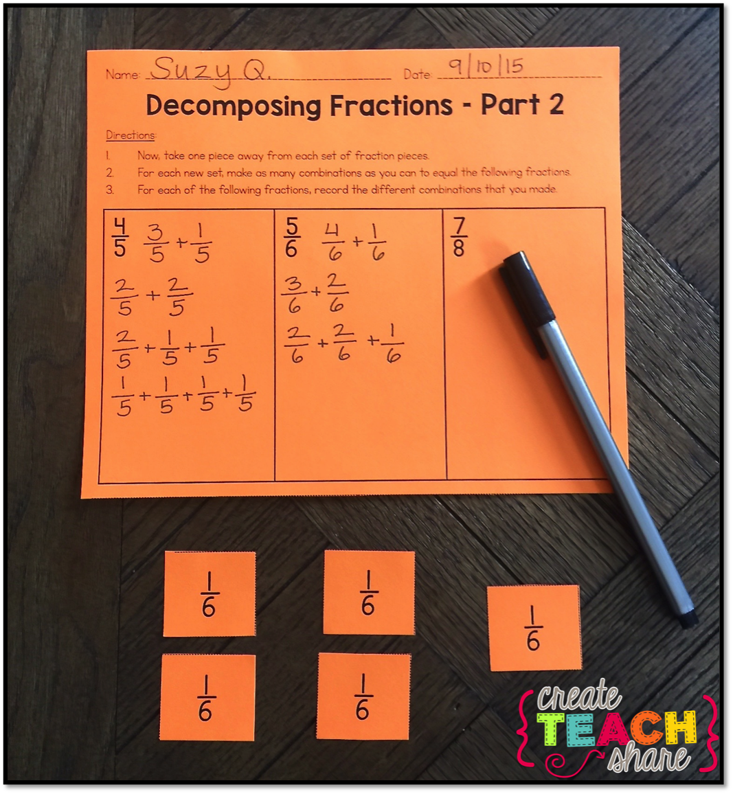 4th Grade Teaching Resources The Magic Of Decomposing