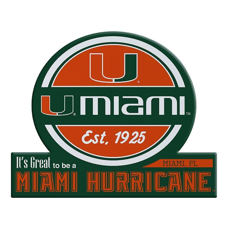 Hurricanes University of Miami Vinyl Sticker Decal *SIZES* CornholeTruck Wall