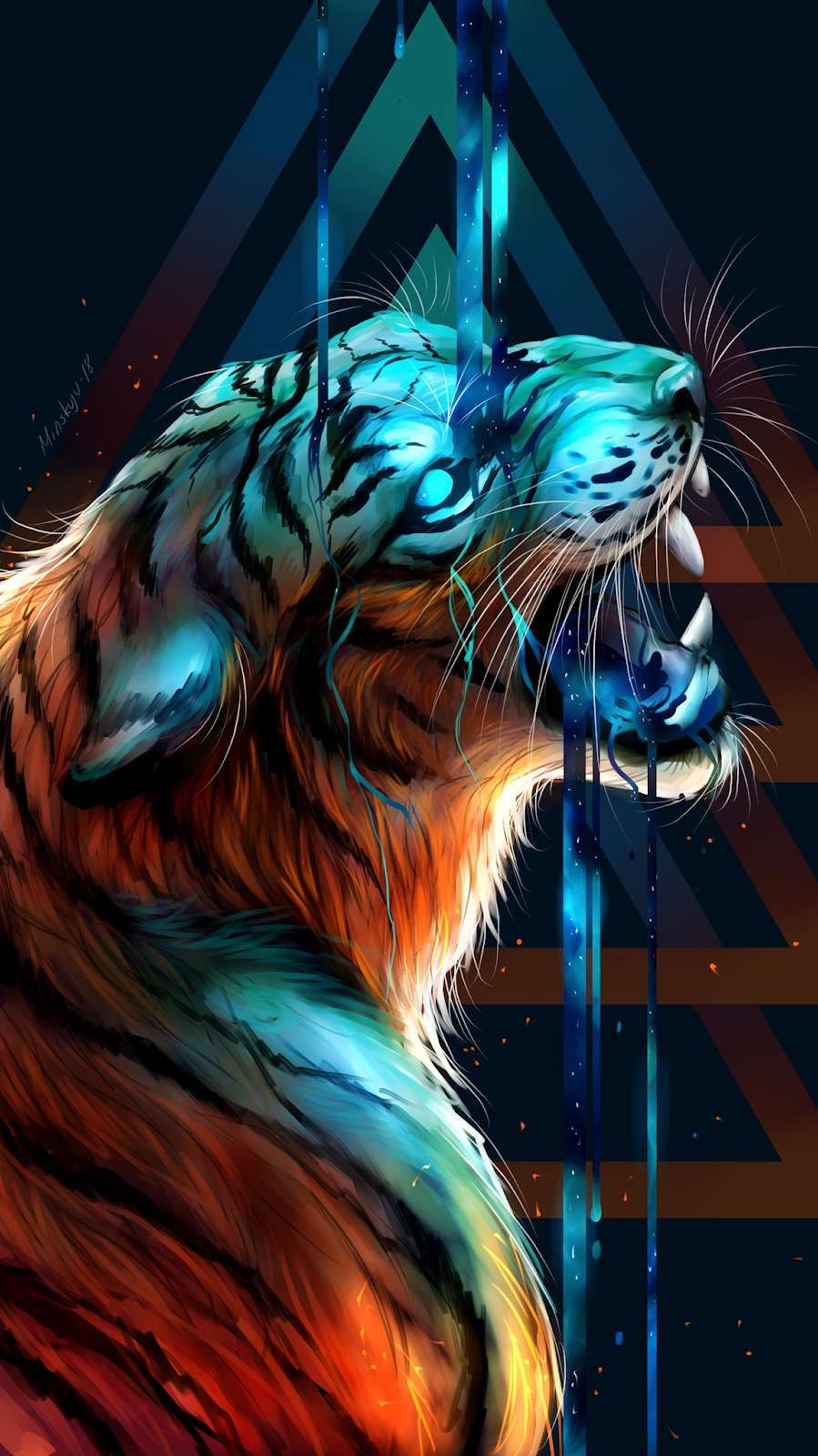 Bengal Tiger Art iPhone Wallpaper Tiger art, Tiger