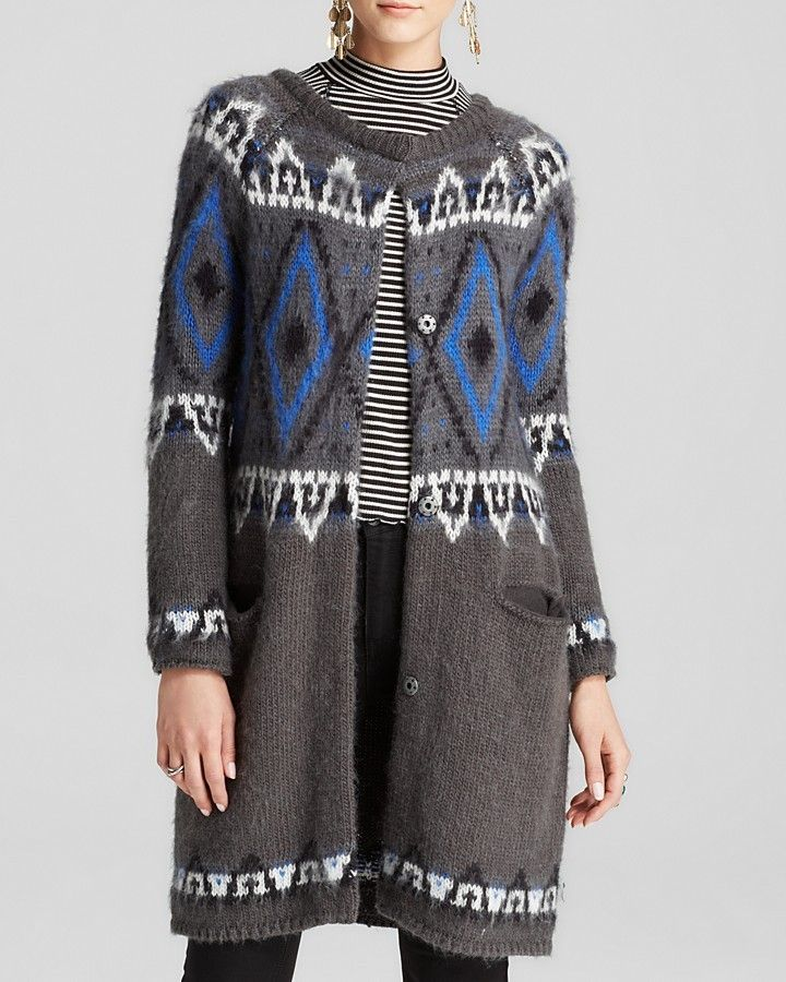 Free People Cardigan - Frosted Fair Isle is on sale now for - 25 % !
