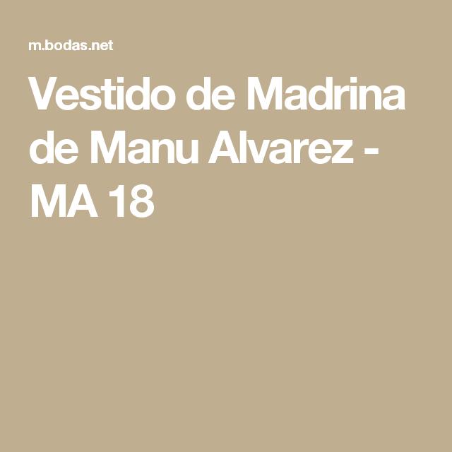 f33c473bb Vestido de Madrina de Manu Alvarez - MA 18