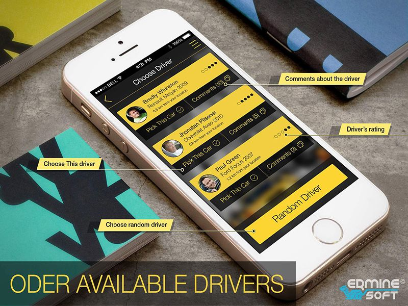 Taxi App by Erminesoft