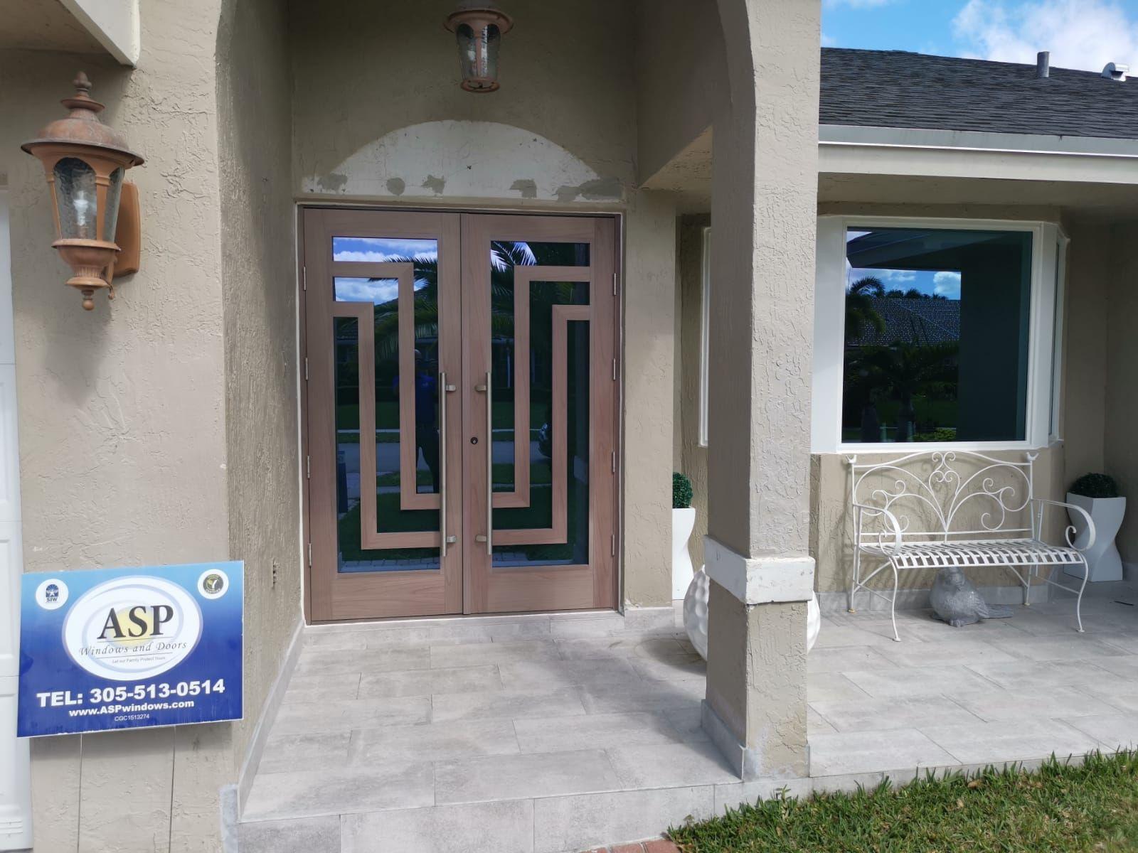 Custom Impact Front Door In Aluminum Impact Doors Door Installation Custom Entry Doors