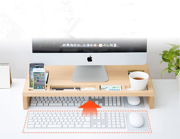 100% Eco Friendly Bamboo Imac Compture Desk New Design Multifunction Phone Holder Pen Holder Home Desk Storage Box - Buy Computer Desk,Bamboo Phone Holder,Storage Box Product on Alibaba.com
