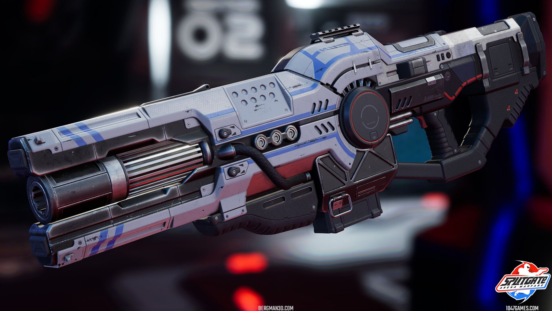ArtStation - Splitgate Plasma Rifle, Martin Bergman