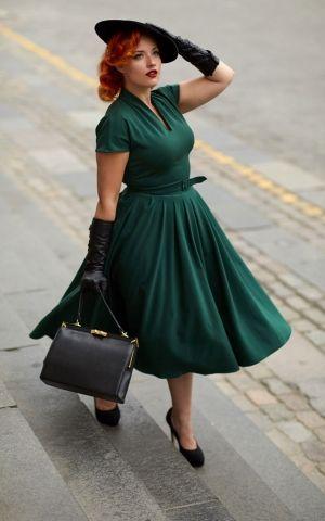 von Miss Candyfloss nostalgisches klassisches Kleid das ...