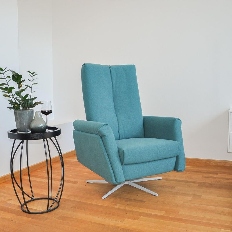 Sessel Mit Hocker Petrol