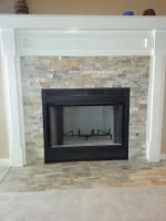 fireplace surround idea using ledgestone natural stone wall tile in rh pinterest com