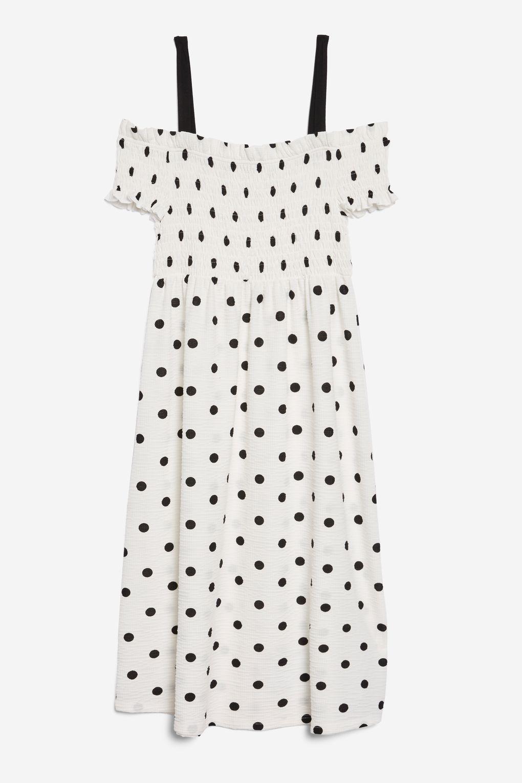 d921cc7d3ce Shirred Strappy Midi Dress