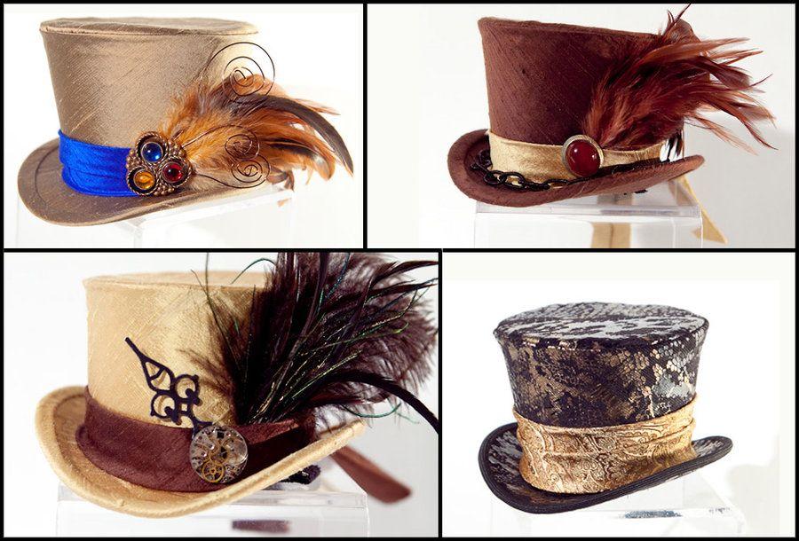 Assortment of mini top hats