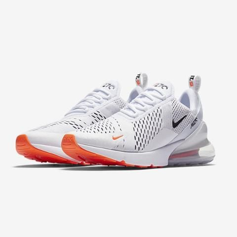 3946accffa6abe Nike AIR MAX 270 Just Do It Pack WHITE BLACK-TOTAL ORANGE
