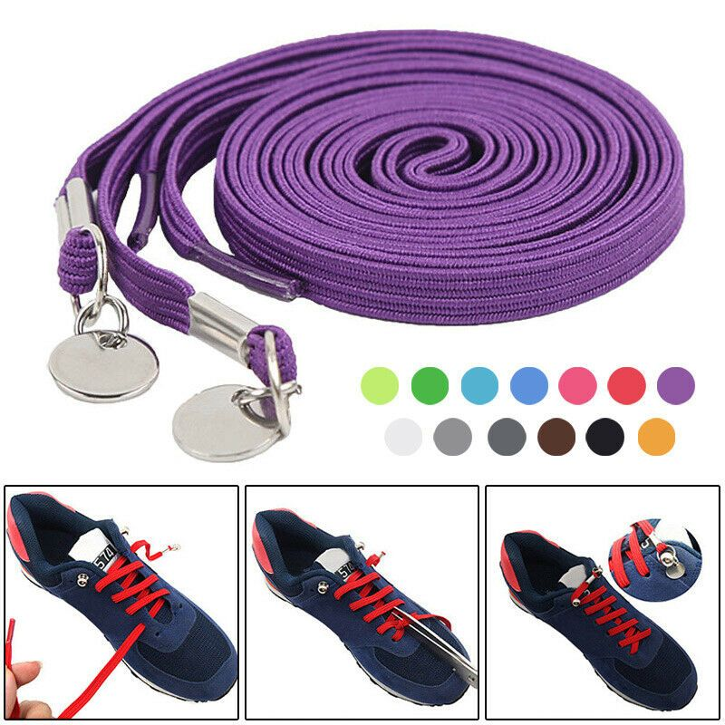 No Tie Shoe Laces Elastic Buckle Lock Lace System Lock Sports Runners Shoelace
