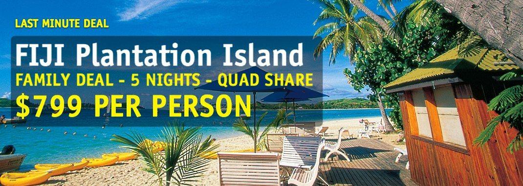 fiji plantation island resort family deal 5 night holiday from rh pinterest com au