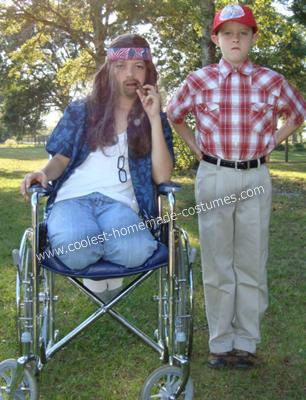 Coolest Homemade Forrest Gump and Lt Dan Couple Halloween