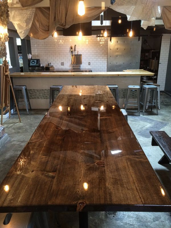 epoxy table top dining room in 2019 bar top epoxy epoxy table rh pinterest com