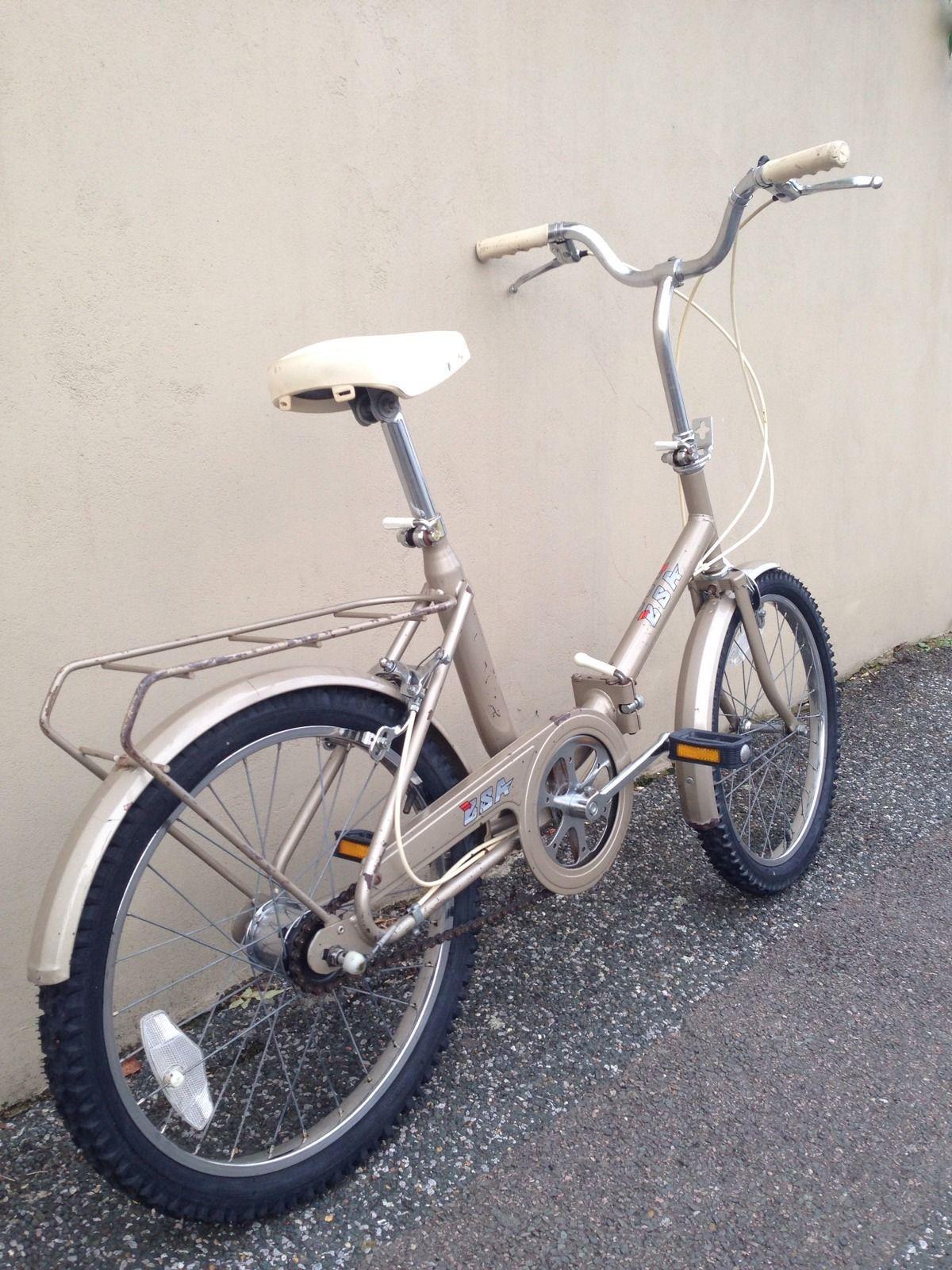Vintage Bsa Folding Fold Up Folder Bicycle Bike Cycle
