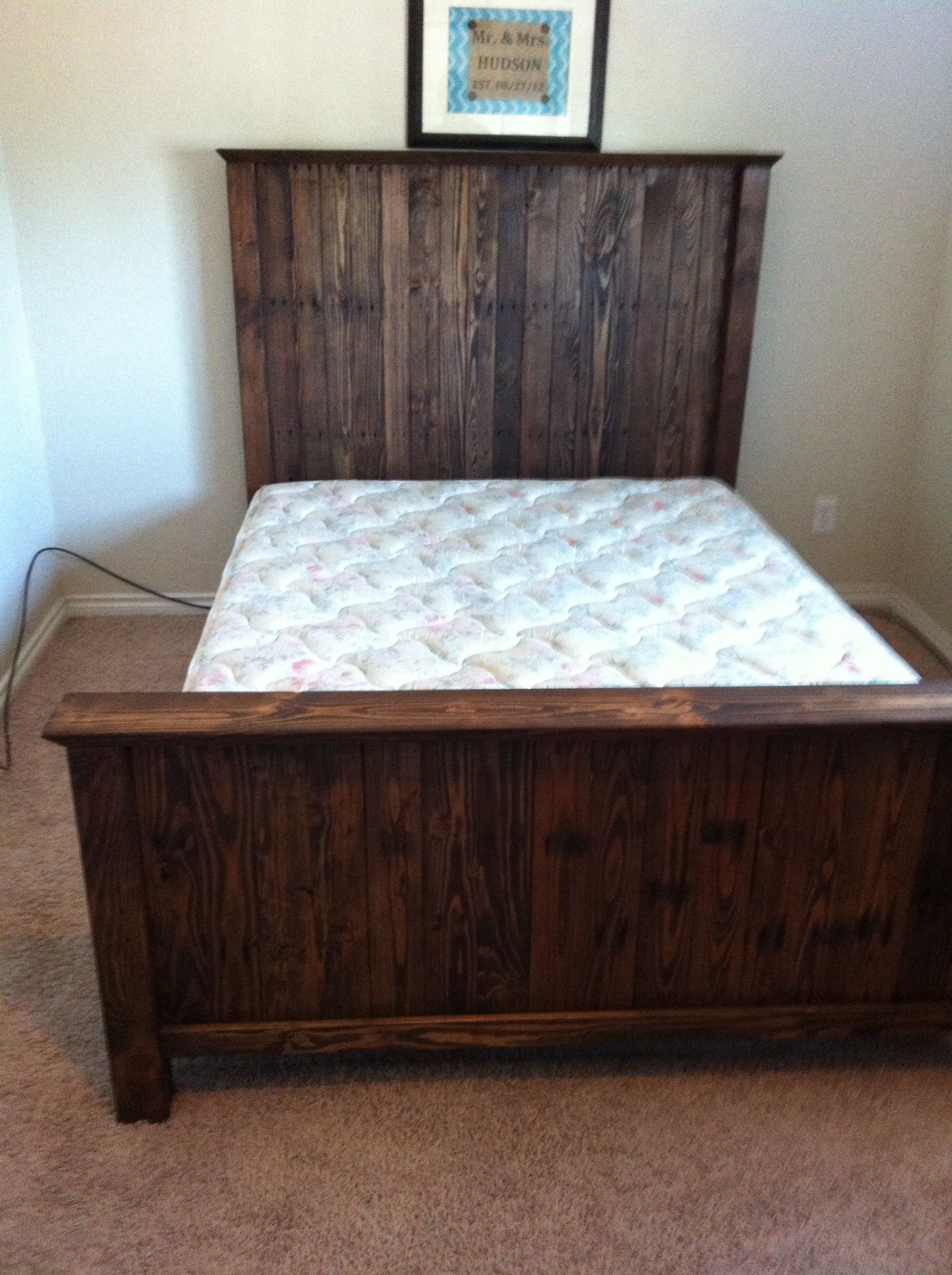 4x4s and pallet headboard and footboard my diy projects rh pinterest com