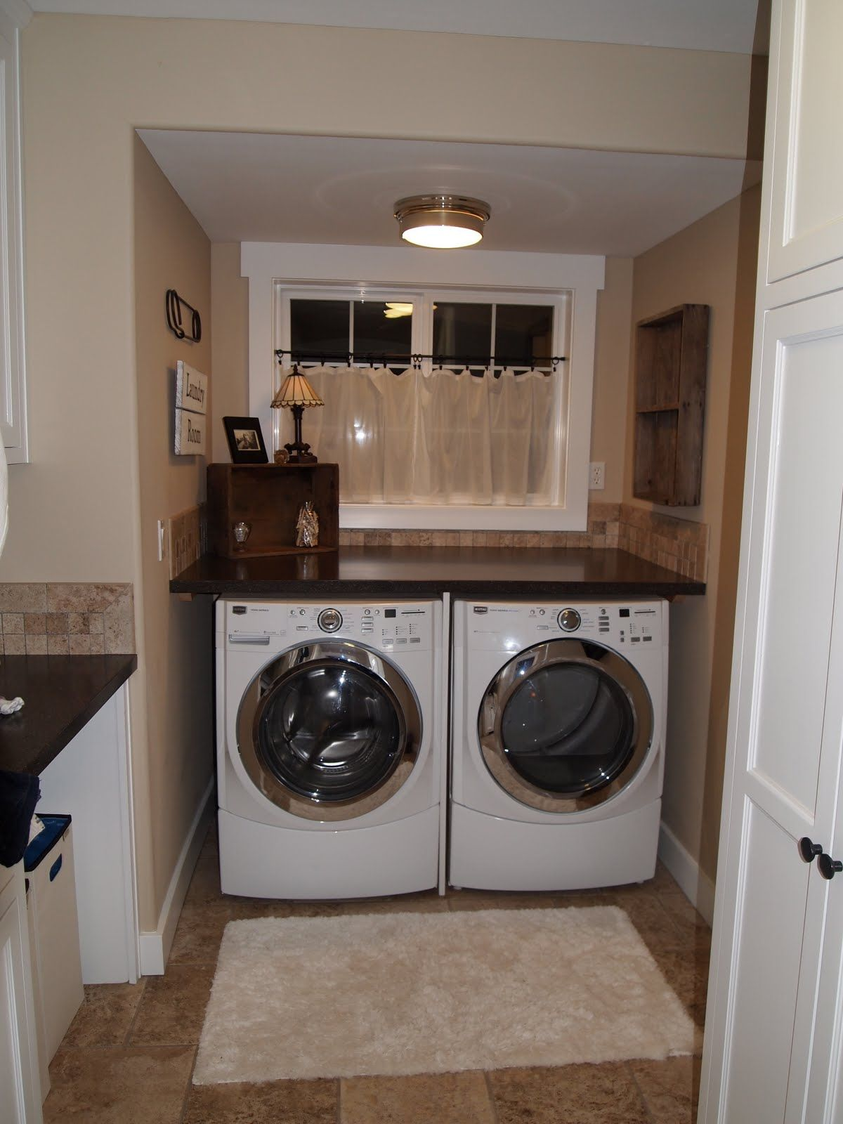 planning on putting a shelf over the washer and dryer in the new rh pinterest com